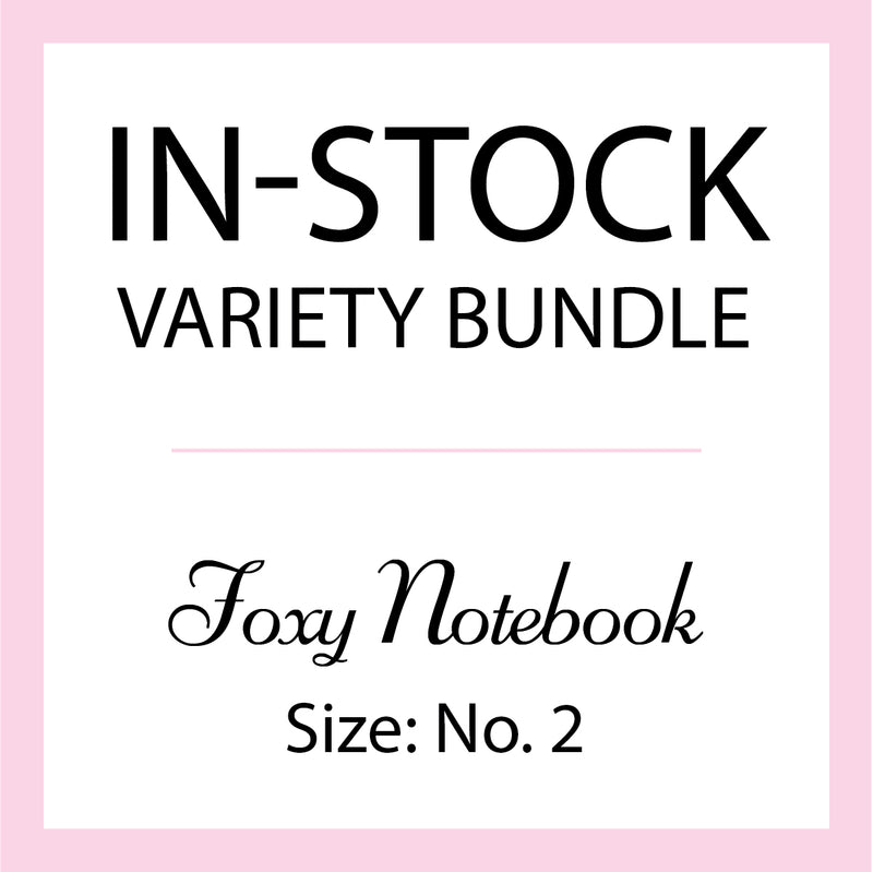 Mystery In-Stock Variety Bundle - Foxy Notebook - Size No. 2 - Pocket