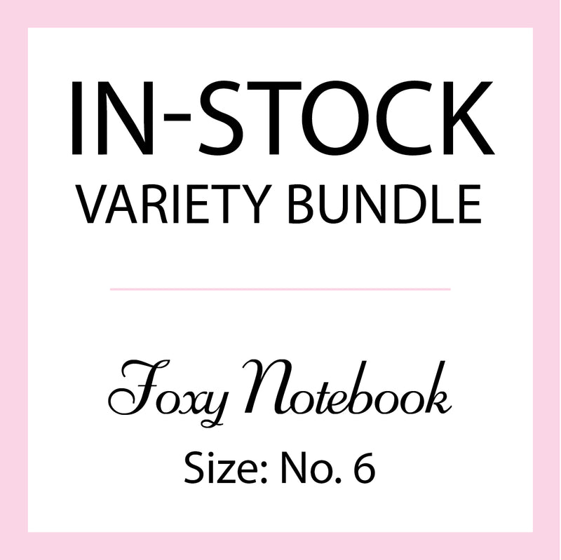 Mystery In-Stock Variety Bundle - Foxy Notebook - Size No. 6 - Standard