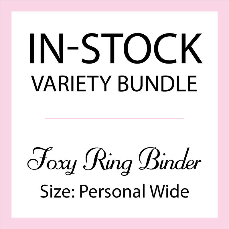 Mystery In-Stock Variety Bundle - Foxy Ring Binder - Size Personal Wide