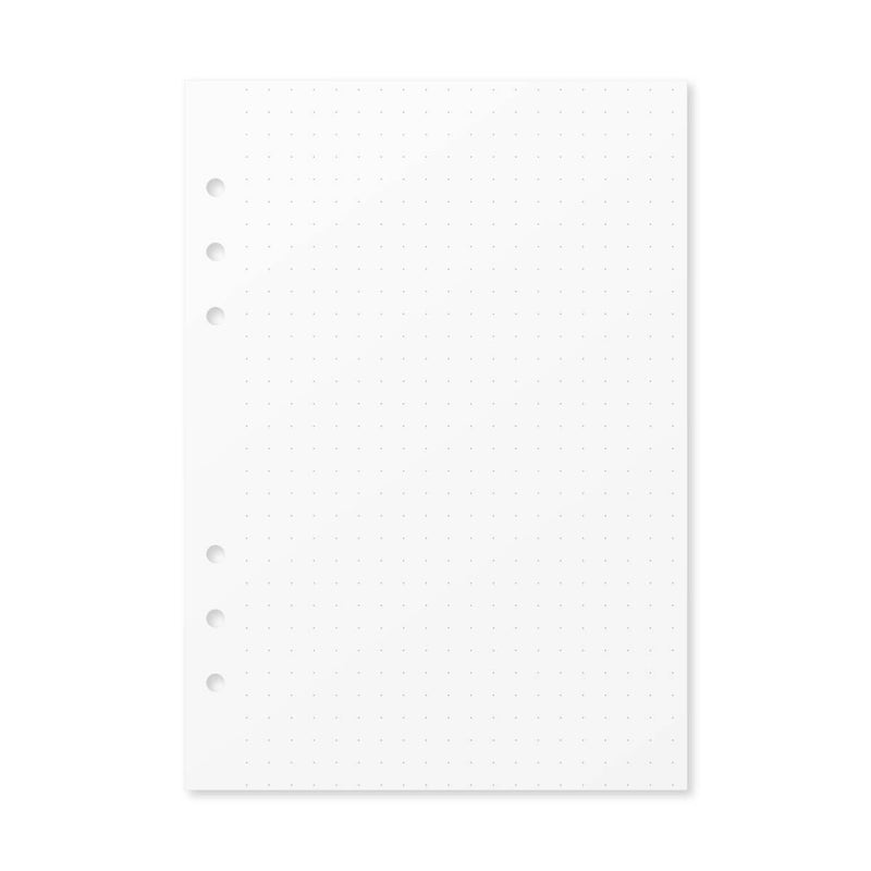 Paper Dot Grid Insert - Foxy Ring Binder (A5)