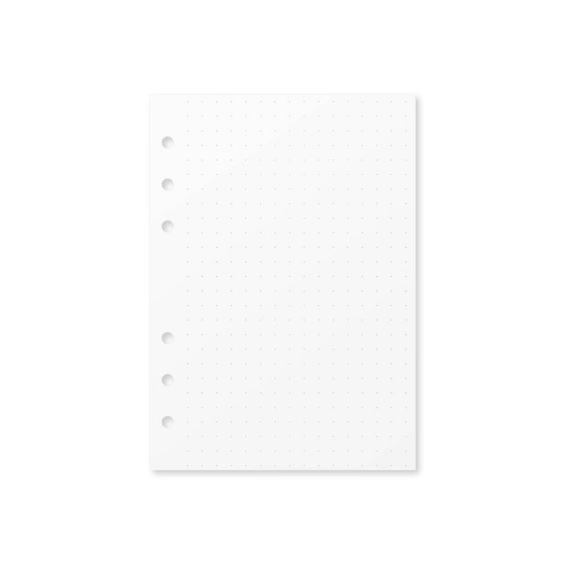 Paper Dot Grid Insert - Foxy Ring Binder (Personal Wide)