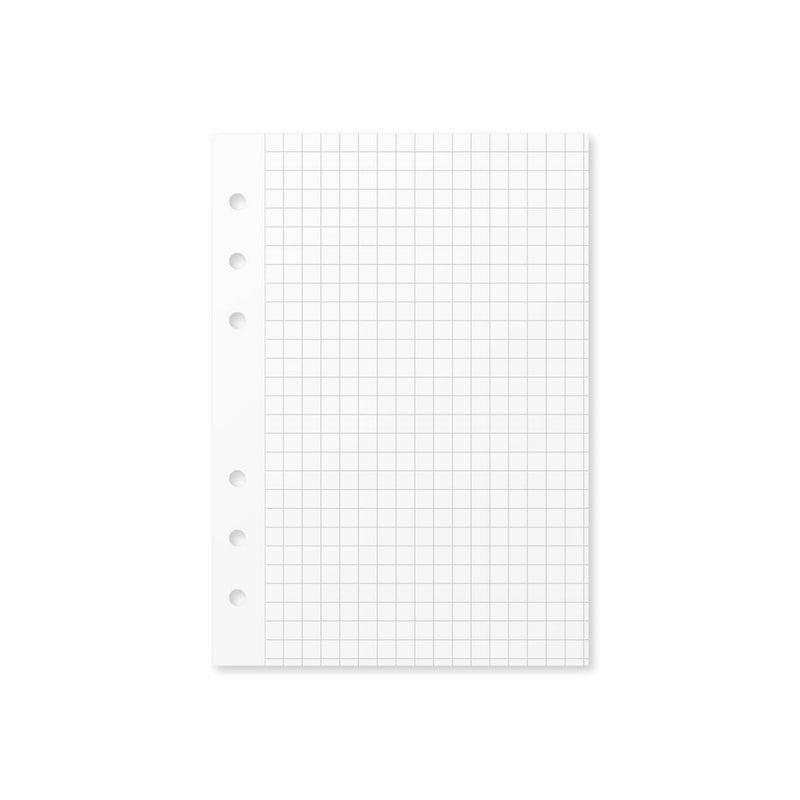 Paper Graph Grid Insert - Foxy Ring Binder (Personal Wide)