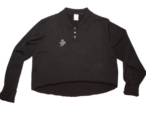 Collared Cropped Sweater
