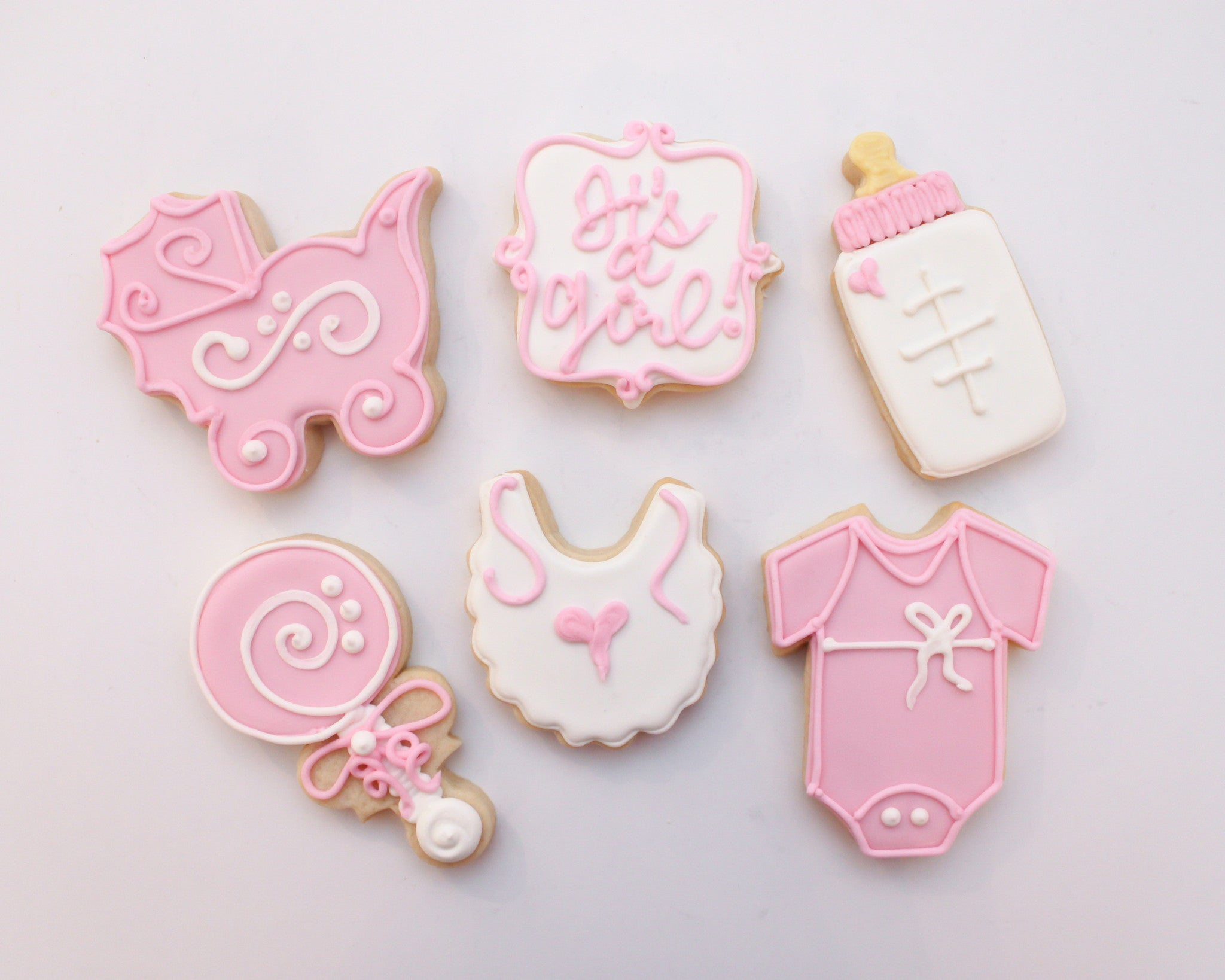 e90140c3f It's a Girl Baby Set - Whimsy Cookie Company