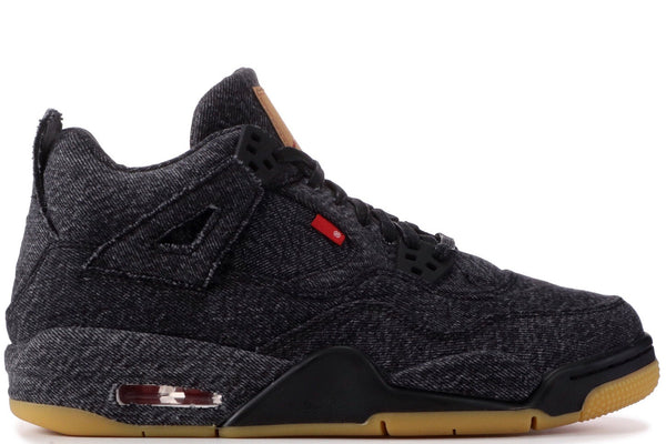 "AIR JORDAN 4 (GS) ""LEVIS BLACK"""