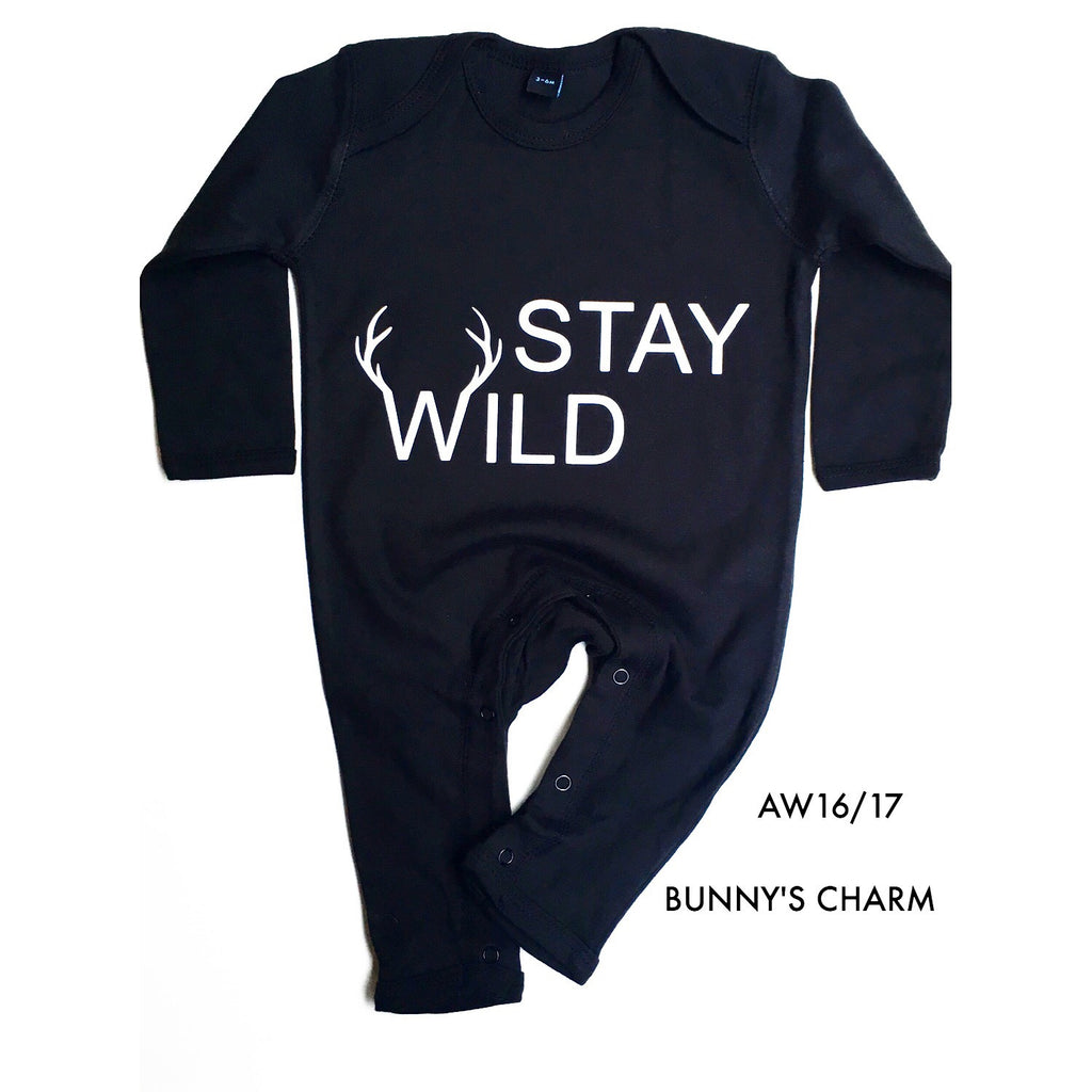 Stay Wild Romper (Black) Organic