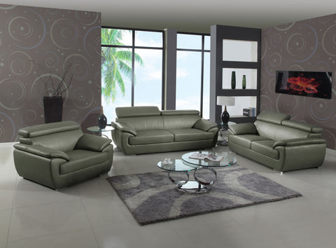 4571-GU Leather 3-Piece Living Room Sofa Set