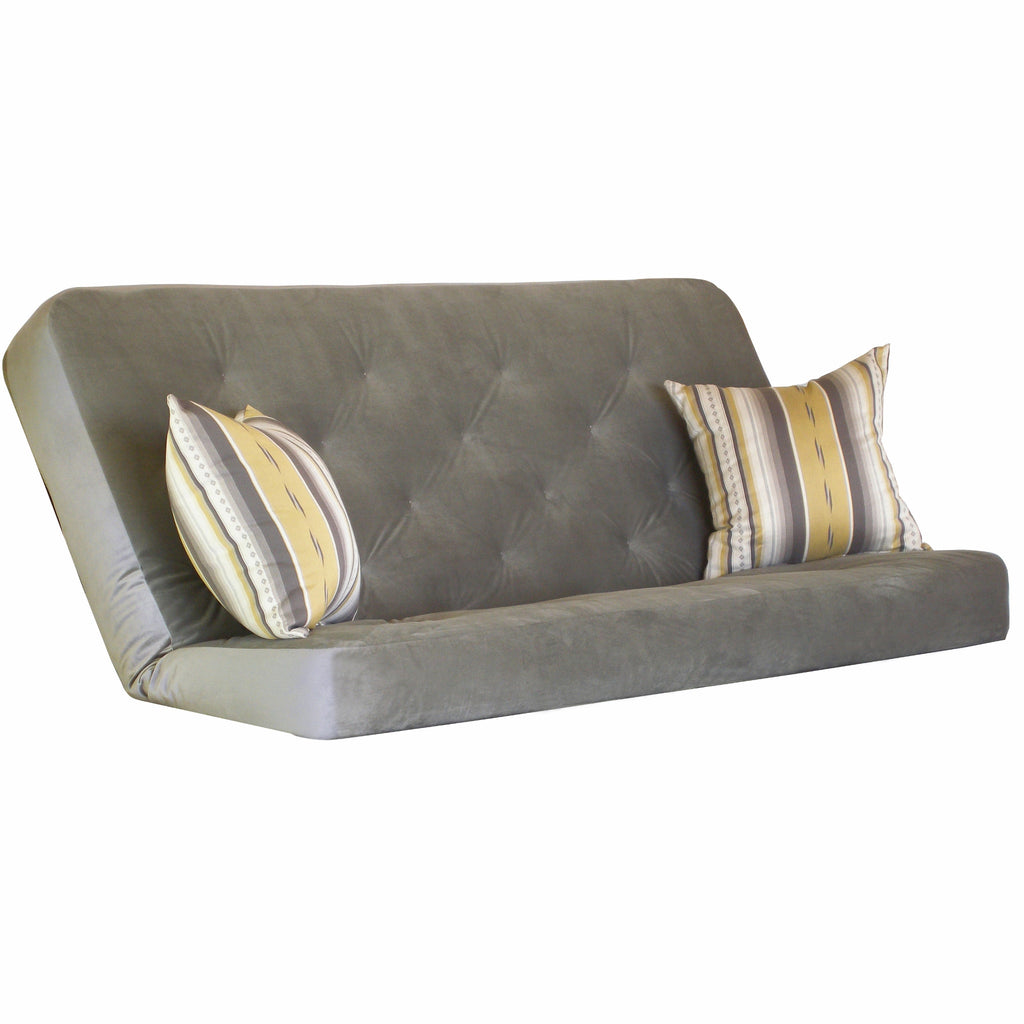 Arabella Pewter mattress w/ Legend Shale pillows set
