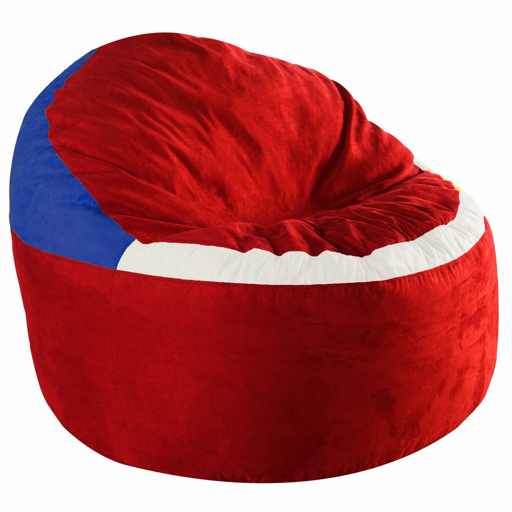 Game Day Lounger- Red and Blue