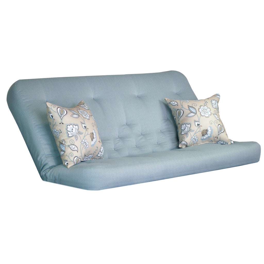 Clyde Cornflower mattress w/ Avennious Misty Blue pillows set