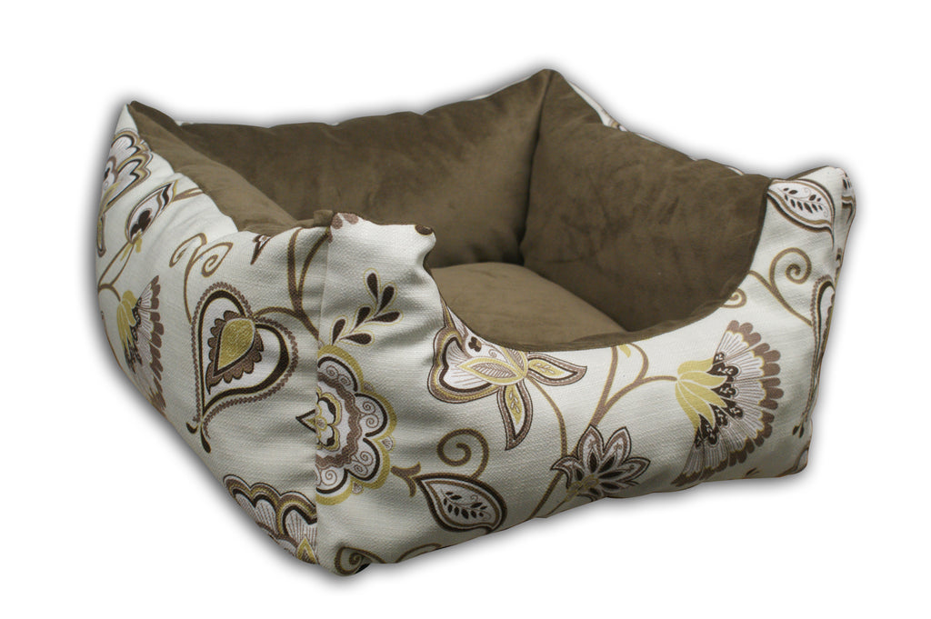 Misty Yellow Bolster Rectangle Bed