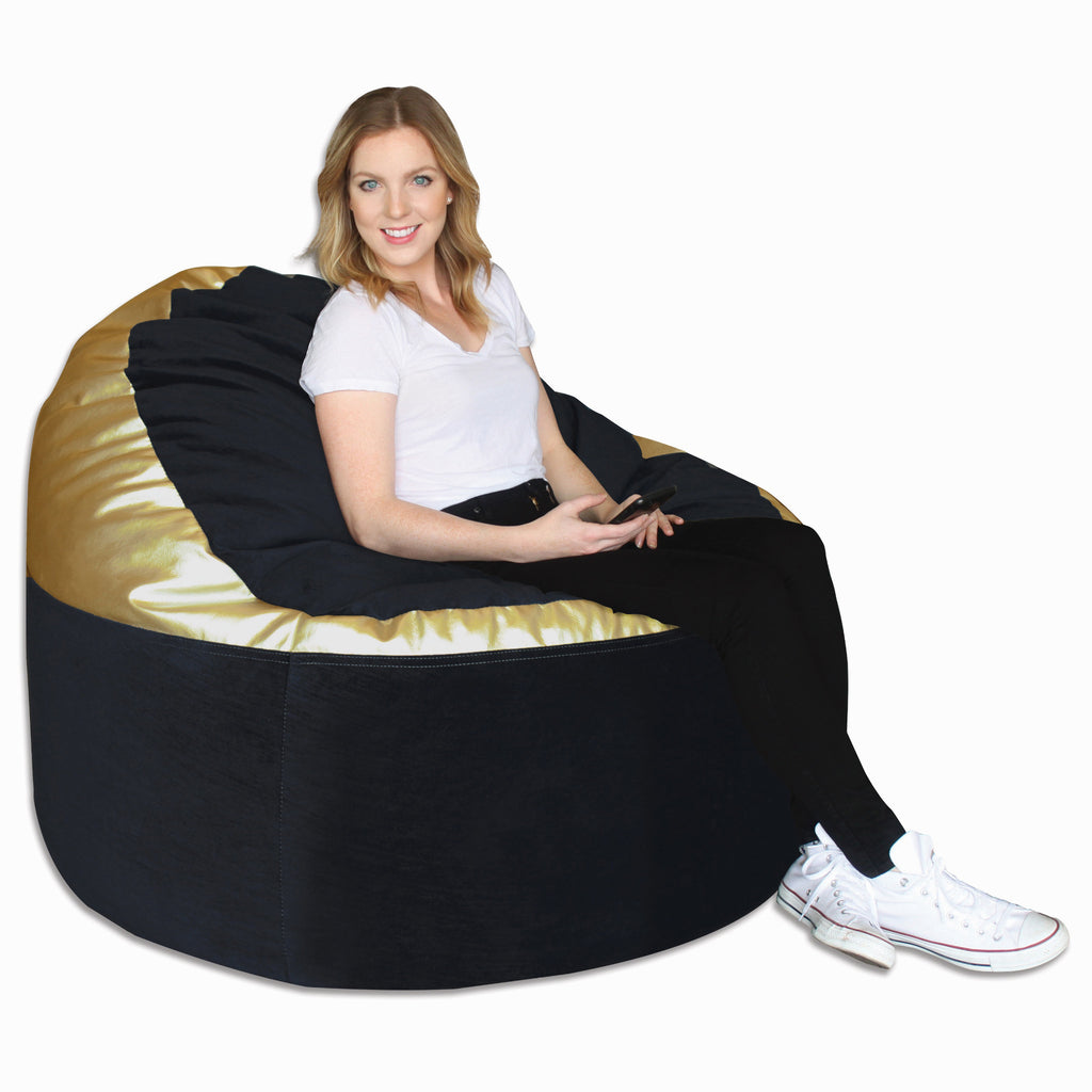 Black/ Metallic Gold (872) Adult Lounger