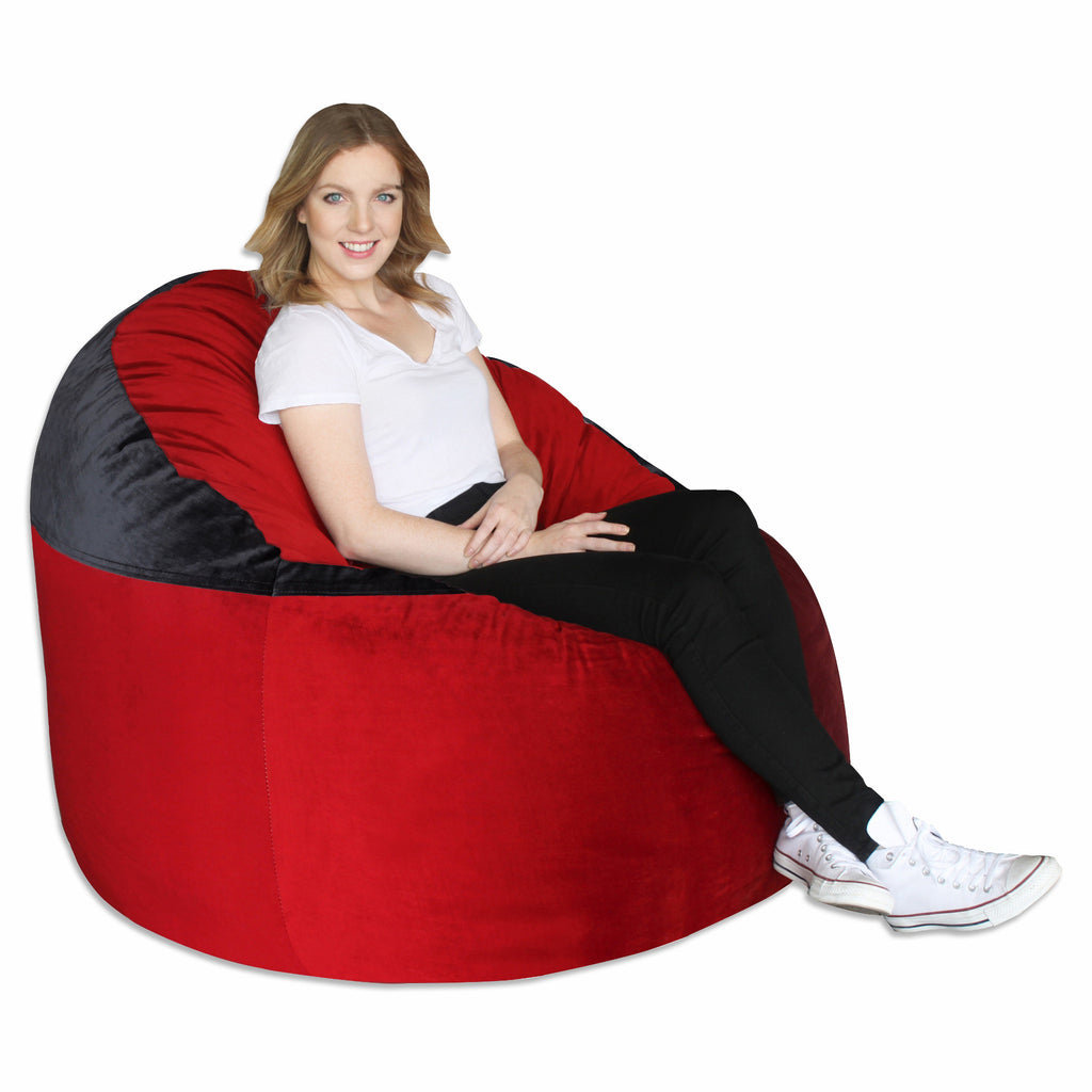 Bright Red (200)/ Black Adult Lounger