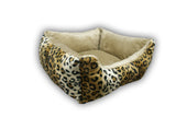 Cheetah Bolster Rectangle Bed