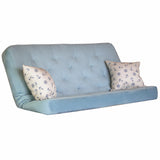 Ennis Aqua mattress w/ Anchors Cobalt pillows set