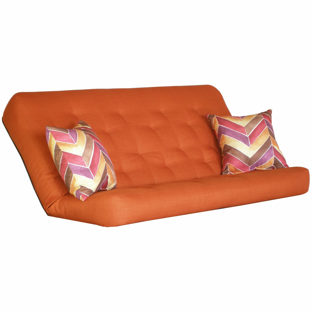 Cassandra Orange mattress w/ Hue Vermillion pillows set