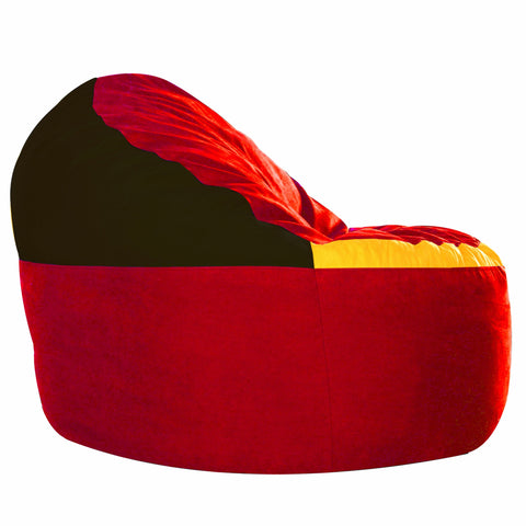Game Day Lounger- Red, Black and Yellow
