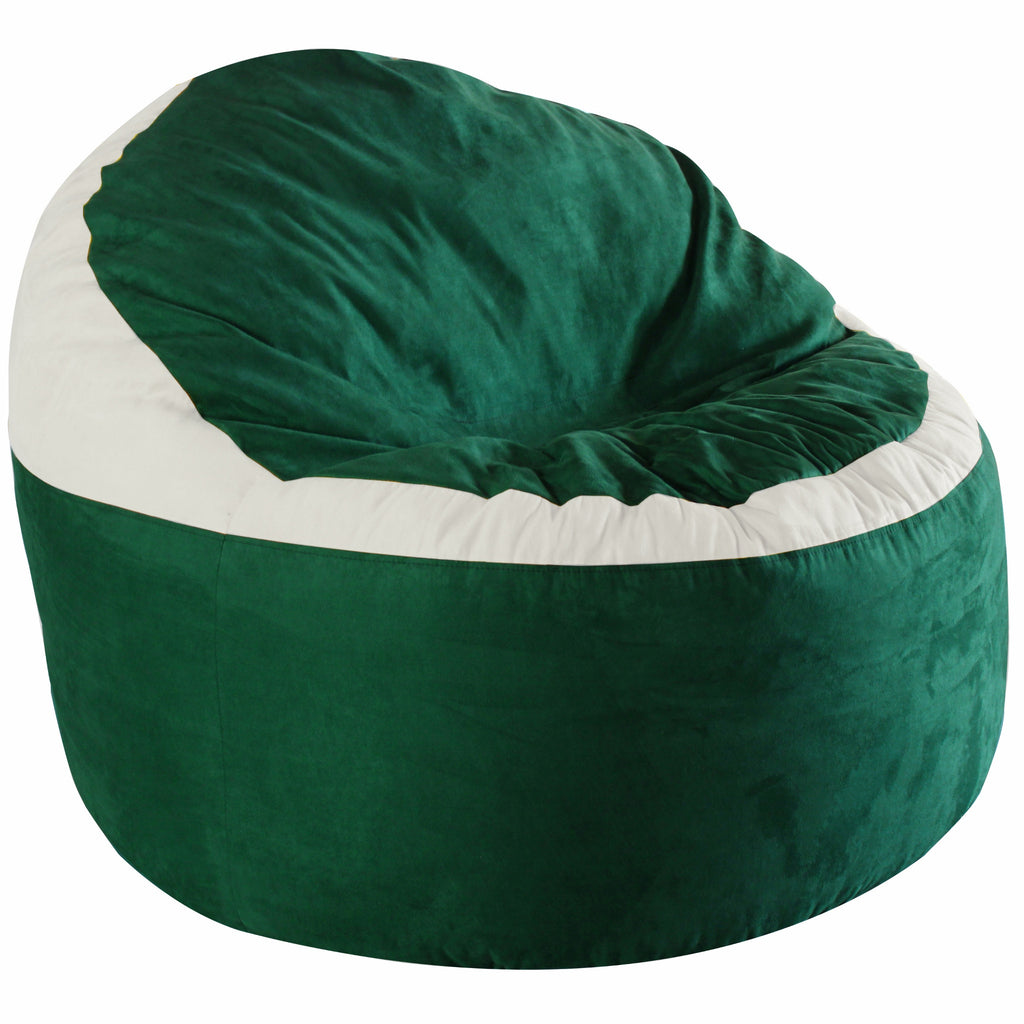 Game Day Lounger- Green & White