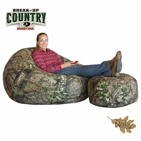 Mossy Oak Break- Up Country 50'' Promo with Ottoman
