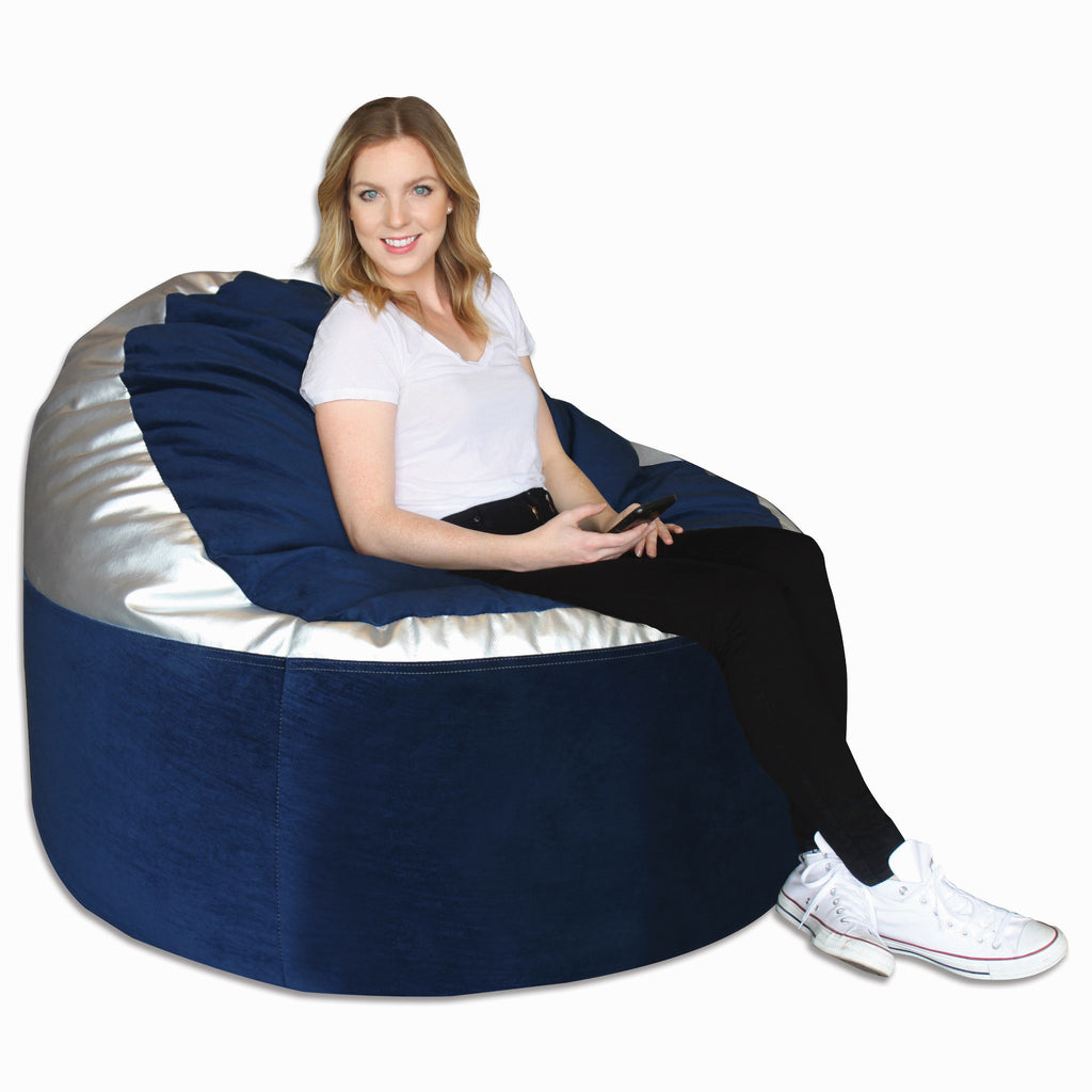 Navy (289)/ Metallic Silver (877) Adult Lounger