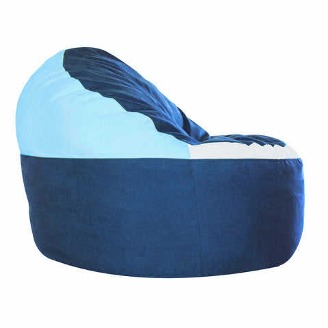 Game Day Lounger- Blue, Sky Blue & white