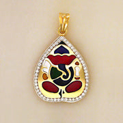 Vinayaka - the colourful (diamond n enamel)