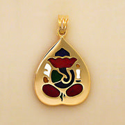 Vinayaka - the colourful (gold n enamel)