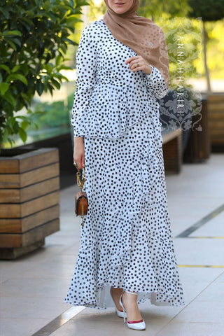 Best Dotted Modest Dress