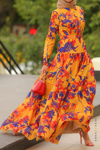 Saffron Modest Dress