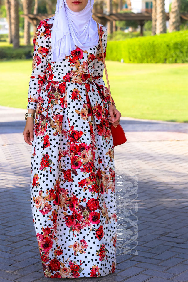 Flower dots by annah hariri flower dress for Annah hariri wedding dress