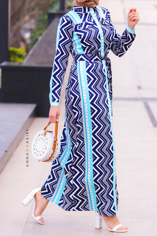 Geometric Shirt Dress