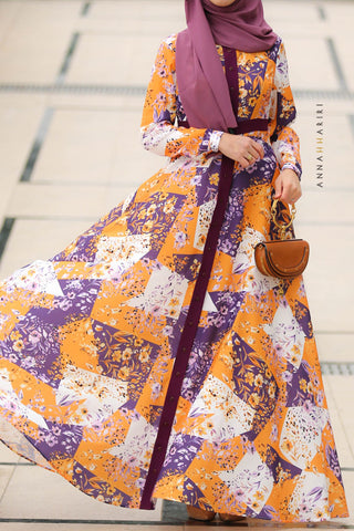 Patchwork Modest Dress