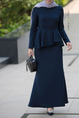 Peplum Modest Dress