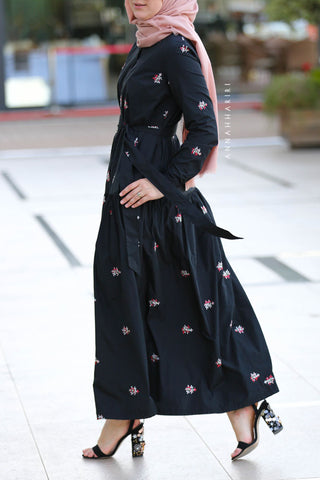 Taffeta Modest Dress