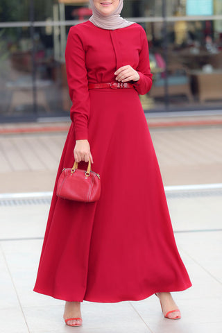 Plain Cherry Dress