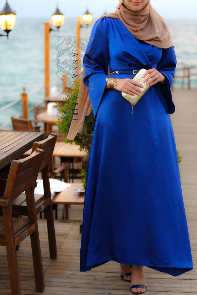 Sapphire dress modest dresses maxi dresses chiffon for Annah hariri wedding dress
