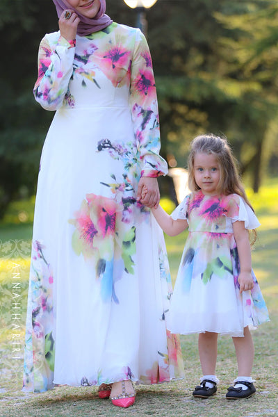 921c0b6acaa68 Little Silk Flower dress | modest fashion | new dress | womens fall ...