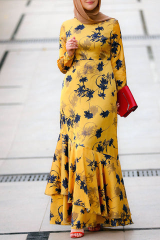 Yellow Shadow Dress