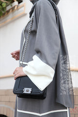 grey abaya designs