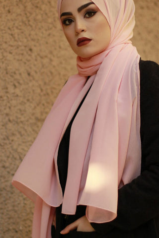 Light Pink Chiffon scarf