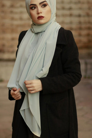 Light Grey Chiffon scarf