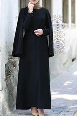 cape dress black