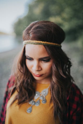 Mustard + Sage Yarn Headbands