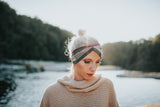 Sage + Berry Flannel Ear Warmer