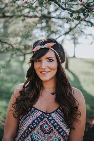 Ombre Leather Bow Headband