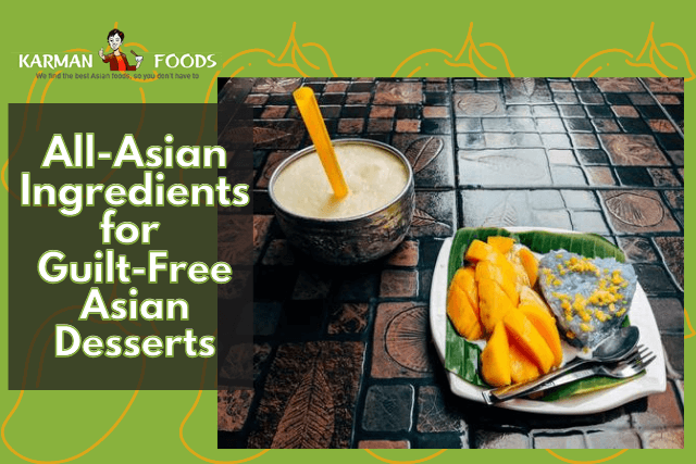 Asian sticky rice with mango and drink.