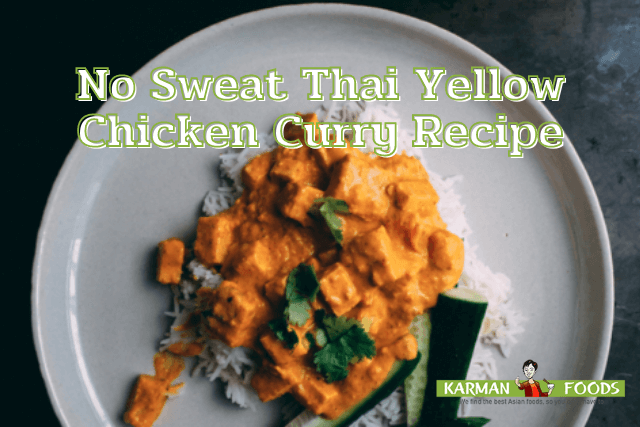 A plate of Thai Yellow Chicken Curry.