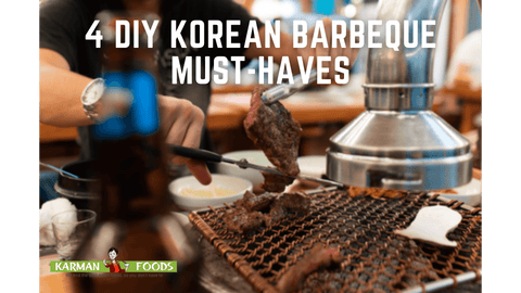 A person cutting beef on a Korean grill.