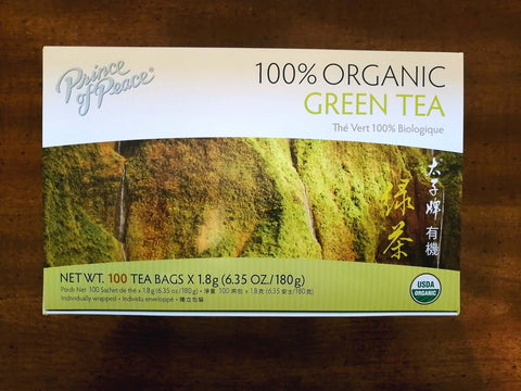 A box of Prince of Peace Green Tea