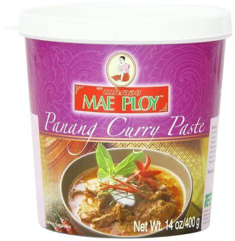 A product review for Mae Ploy's Thai Panang Curry Paste by Karman Foods.